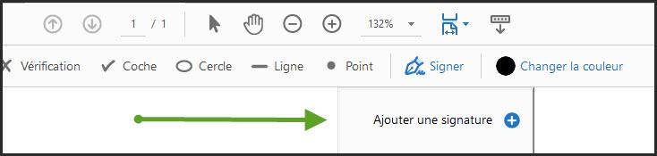 Bouton Adobe Acrobat Reader : ajouter ma signature